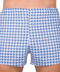 Klasické pánské trenky Foltýn modrá kostka nadrozměr